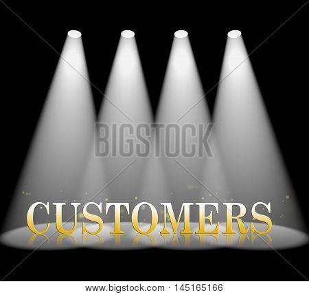 Customers Spotlight Represents Client Buyer 3D Rendering