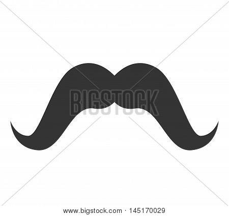 moustache hair mouth face design vector illustration eps 10
