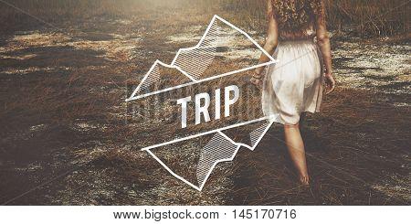 Trip Adventure Destination Expedition Holiday Concept