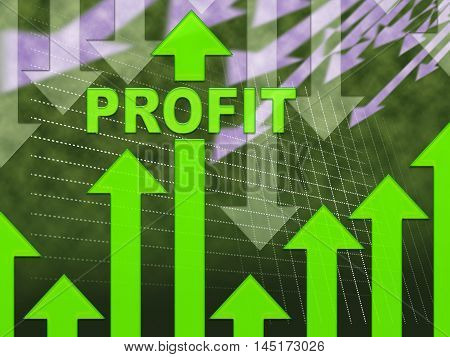 Profit Graph Shows Growth Earning And Income