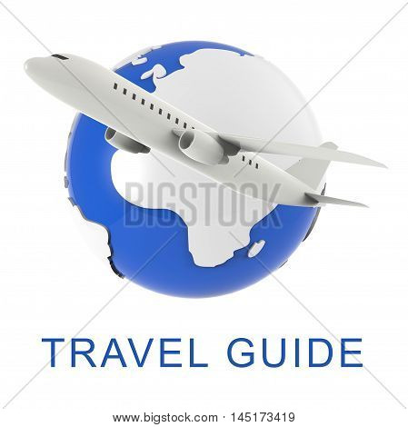 Travel Guide Means Holiday Tours 3D Rendering