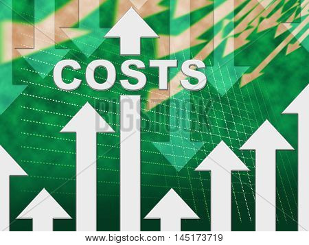 Costs Graph Indicates Paying Expenses And Outgoings