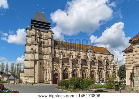 Saint Michael Church in Pont-l'Eveque Calvados department France