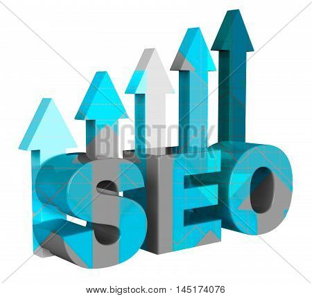 Seo Graph Represents Search Engine 3D Rendering