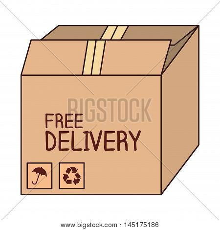 box carton free delivery isolated vector illustration eps 10
