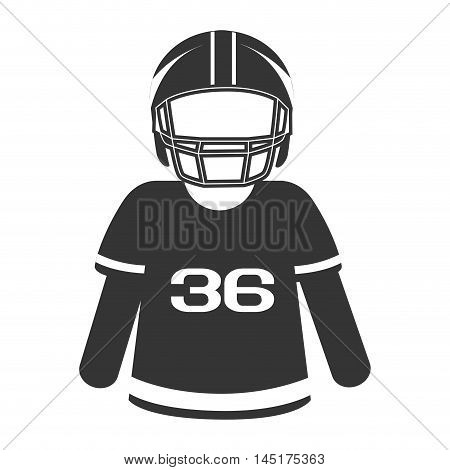 silhouette player football american isolated vector illustration eps 10