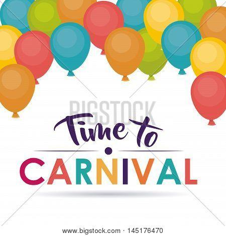 balloons carnival festival circus fair celebration  icon. Colorful design. Vector illustration