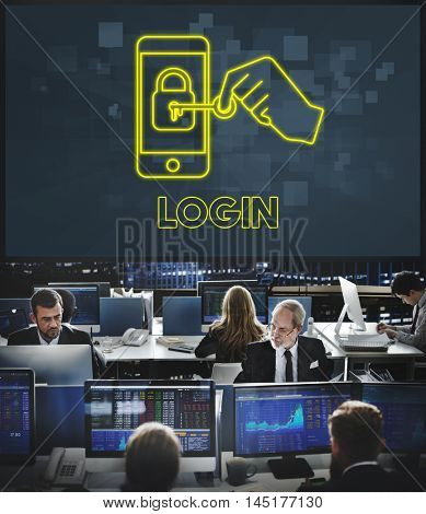 Login Security Network Technology Graphic Concept