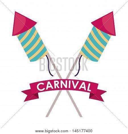 fireworks carnival festival circus fair celebration  icon. Colorful design. Vector illustration
