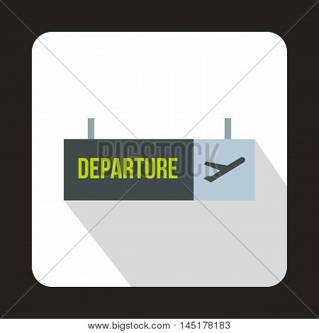 Airport departure sign icon in flat style isolated with long shadow