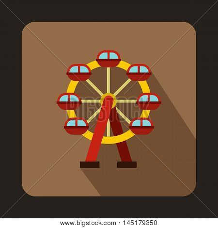 Carousel icon in flat style isolated with long shadow