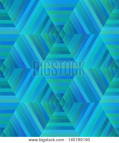 Abstract seamless blue texture kaleidoscope. Vector background for your creativity