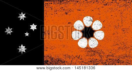 The flag of Northern Territory state in the country of Australia with grunge