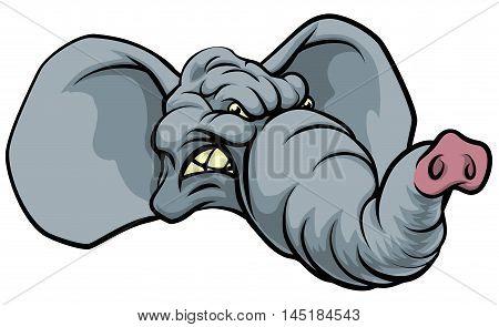 Cartoon Elephant Mascot