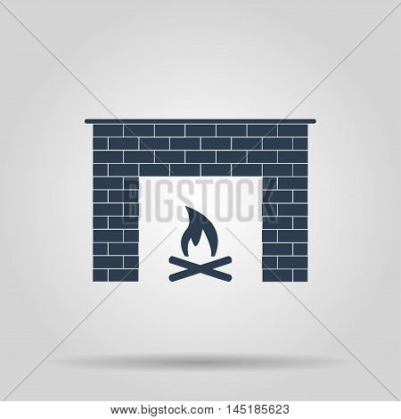 Fireplace Icon Vector Concept Illustration For Design
