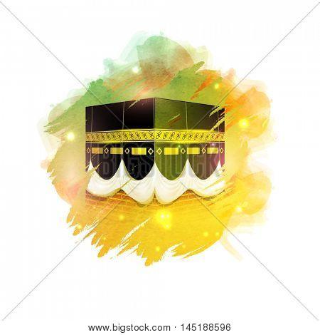 Kaaba, Mekkah. Islamic sacred Masjid-Al-Haram.