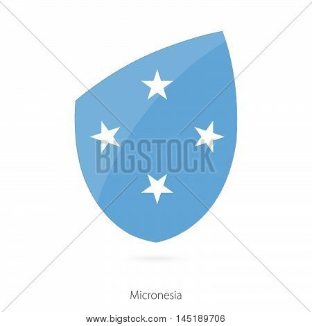 Flag of Micronesia in the style of Rugby icon. Vector Illustration.
