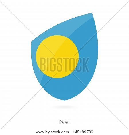 Flag of Palau in the style of Rugby icon. Vector Illustration.
