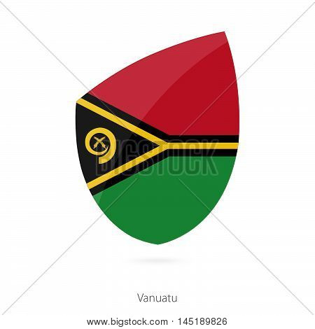 Flag of Vanuatu in the style of Rugby icon. Vector Illustration.