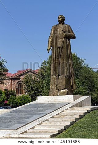 YEREVAN, ARMENIA - AUGUST 25, 2016:Garegin Nzhdeh(1886-1955)armenian statesman and military strategist national ideologist.