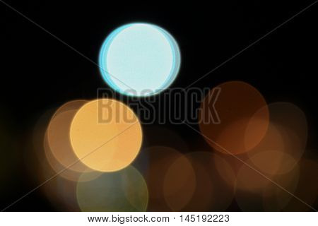 Abstract night light bokeh Blur blurred River with reflex in water Colorful beautiful. defocused background.