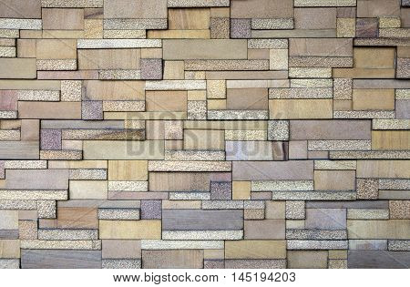 Yellow and brown Modern granite wall decor background