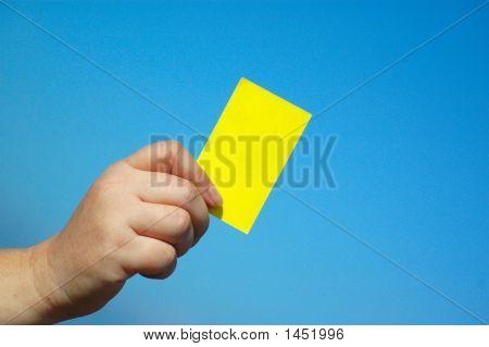 Yellow Card Hand