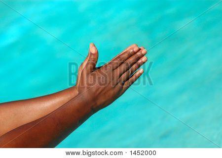 Black Praying Hands