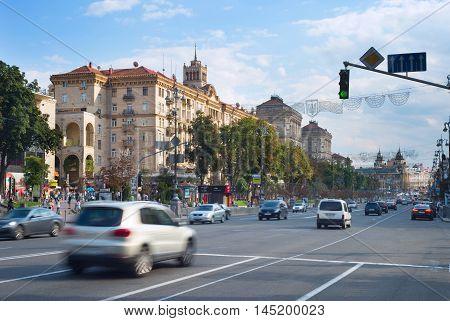 Traffic In Kiev City Center