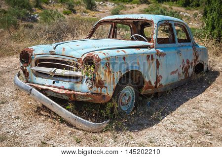 Old Abandoned Rusted Car