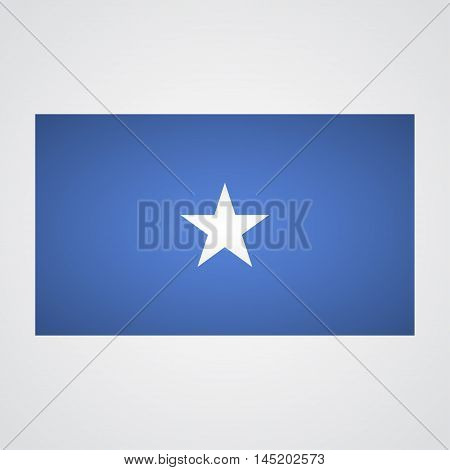 Somalia flag on a gray background. Vector illustration