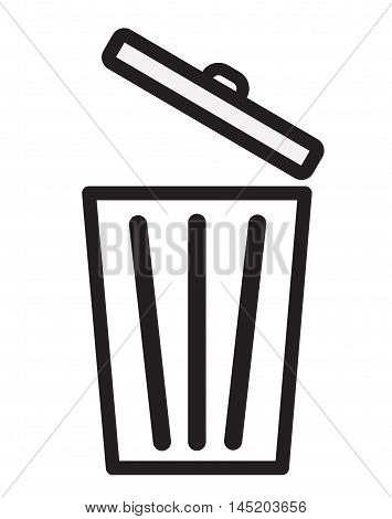Trash icon Bin icon Trash icon on white background