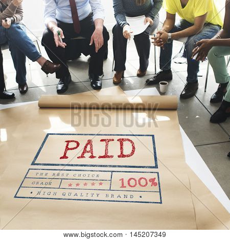 Paid Pay Receipt Finance Accounting Graphic Concept