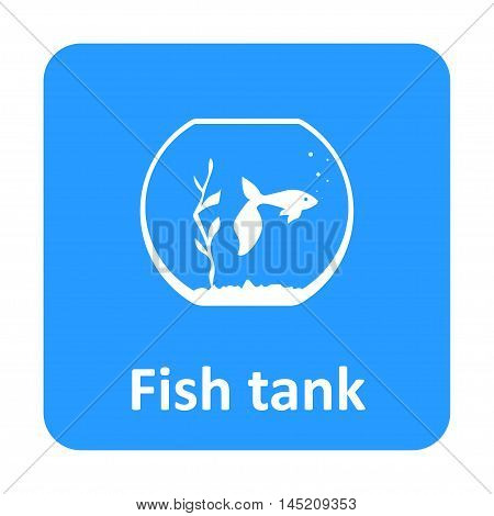 Fish In Aquarium Vector Icon For Web And Mobile