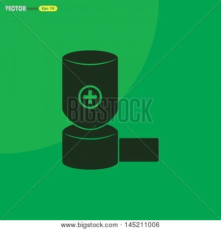inhaler  Vector icon for web and mobile. Medical collection