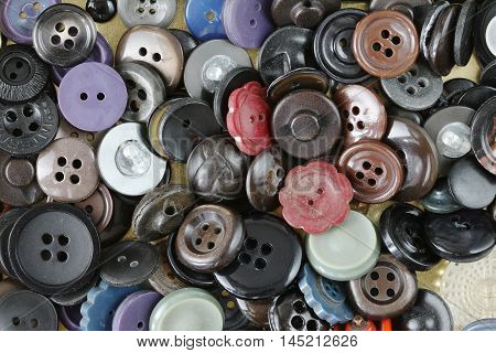Image of the pile of the various buttons