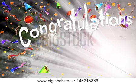 Congratulations Congratulations greeting Beam Background graphic design.