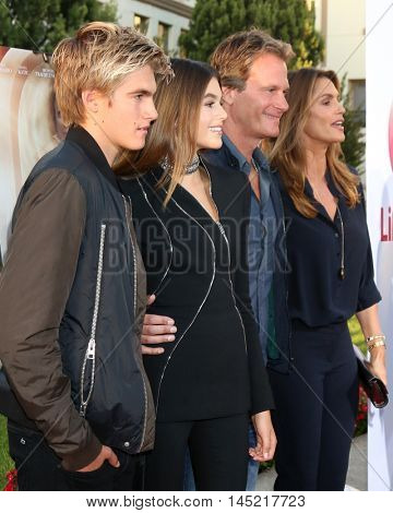 LOS ANGELES - AUG 31:  Presley Gerber, Kaia Gerber, Rande Gerber, Cindy Crawford at the
