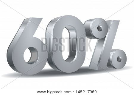 Vector of 60 percent in white background