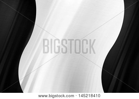 polished metal with curve design background