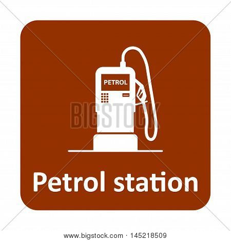 Petrol Station Vector Icon For Web And Mobile