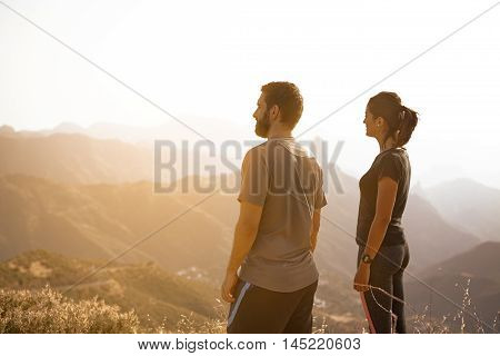 Two Young People Admiring The View