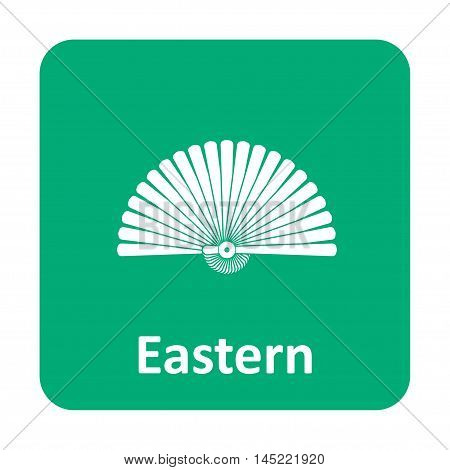 Eastern Hand Fan Vector Icon For Web And Mobile