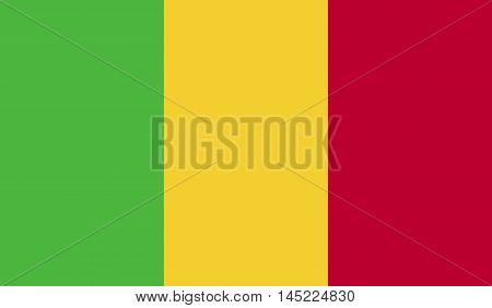 original and simple Mali flag isolated vector in official colors and Proportion Correctly.