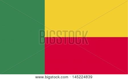 Flat Benin flag isolated vector in official colors and Proportion Correctly. vector illustration.