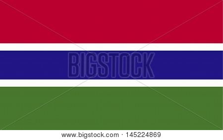 original and simple Gambia flag isolated vector in official colors and Proportion Correctly.
