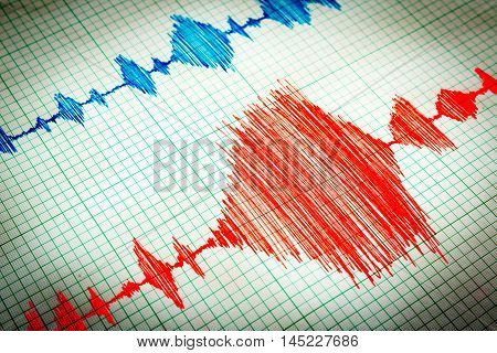 Seismological Device Sheet - Seismometer Vignette Red