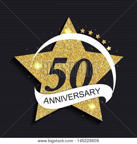 Template Logo 50 Anniversary Vector Illustration EPS10