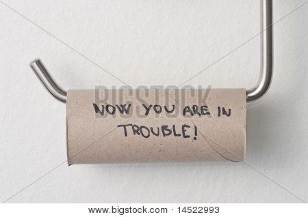 WC-Papier leer