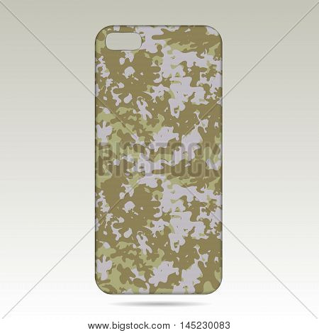 case for phone vector illustration. Phone case design . military style.